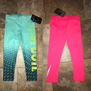 2 pair Nike Girls Dry Fit Leggings NWT Size 4T